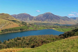 Loweswater Lake. North Western Lake District. With Whiteside and Grasmoor in background.