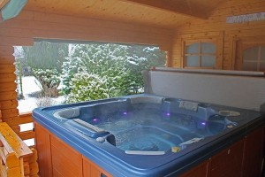 lodge with hot tub lake district