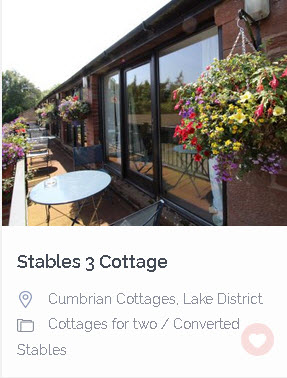 Stables cottage lake district last minute